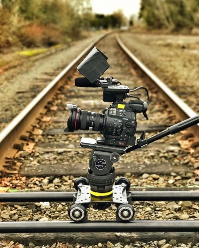 RailDolly, End Brackets, 75mm & 100 mm Ball Adapters + Case