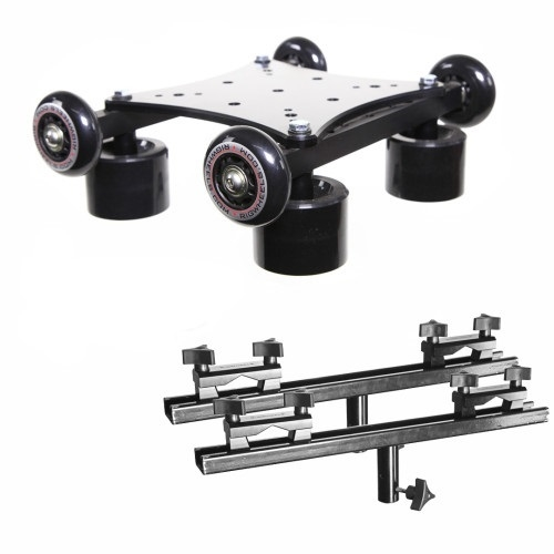 RailDolly, End Brackets, 75mm & 100 mm Ball Adapters